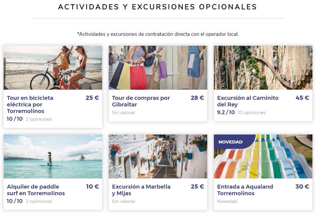 actividades y excursiones en viajes para viajeros solteros en torremolinos