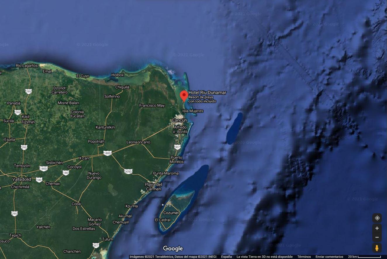 Mapa ubicación como llegar Hotel Riu Dunamar Costa Mujeres Mexico