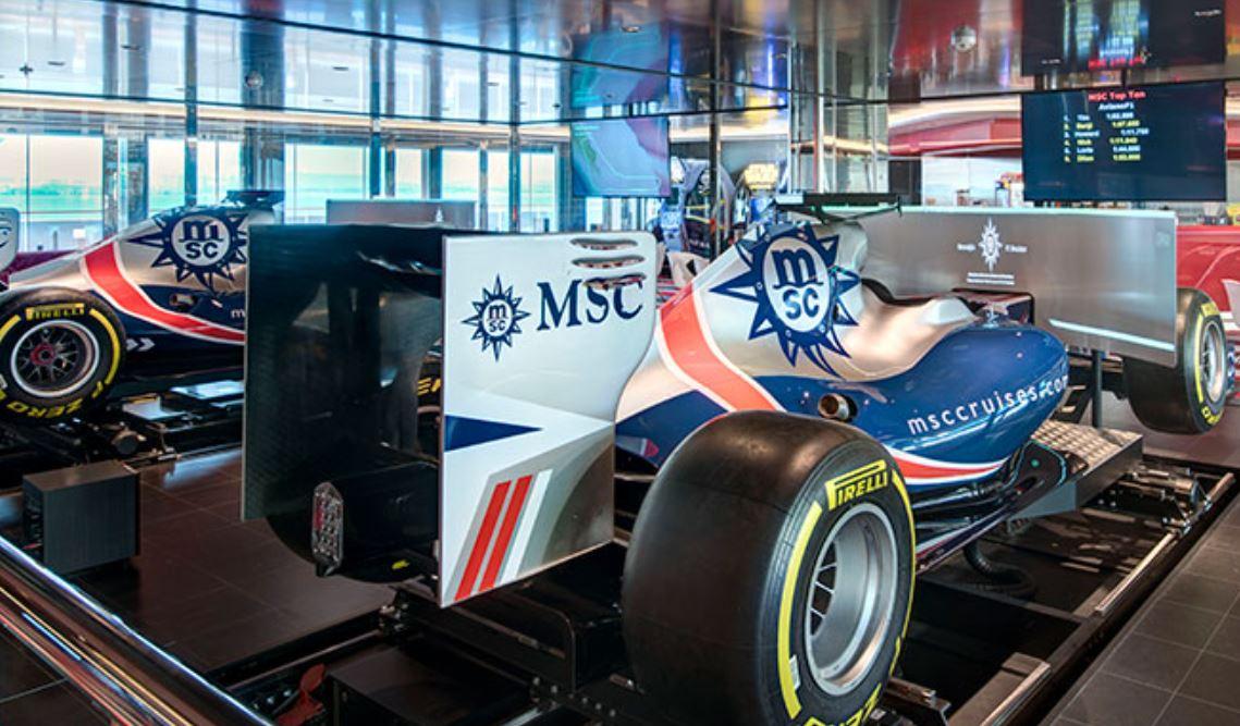 Ocio y entretenimiento en Crucero MSC GRANDIOSA Simulador F1